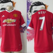 Manchester United 2015 2016 home football shirt adidas Best #7 size M