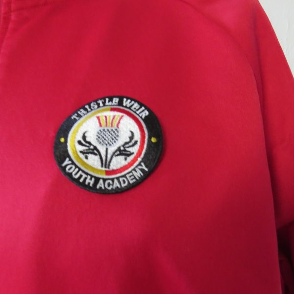 Partick Thistle red training jacket Partick Weir Youth Academy Joma jersey size L (5)
