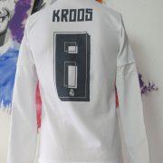 Real Madrid 2015 2016 LFP ls home football shirt adidas Kroos #8 size S (6)