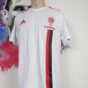 AC Milan 2011 2012 white cotton training shirt adidas soccer jersey size L (1)