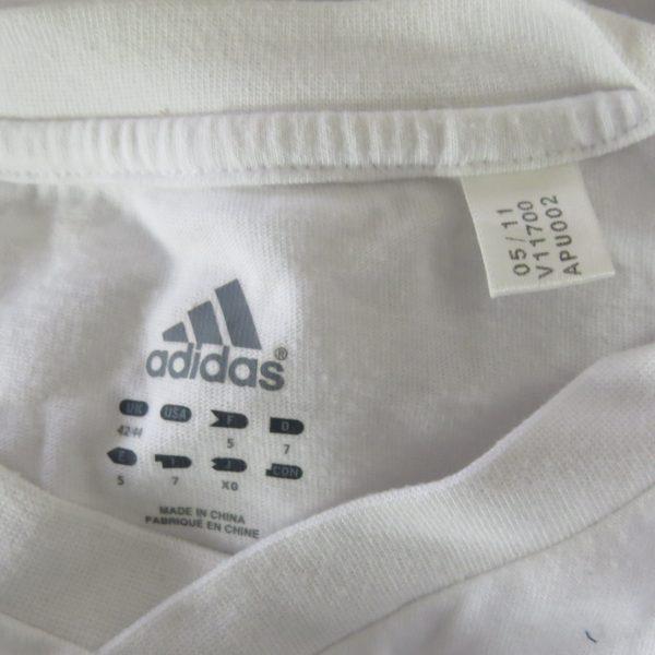 AC Milan 2011 2012 white cotton training shirt adidas soccer jersey size L (2)