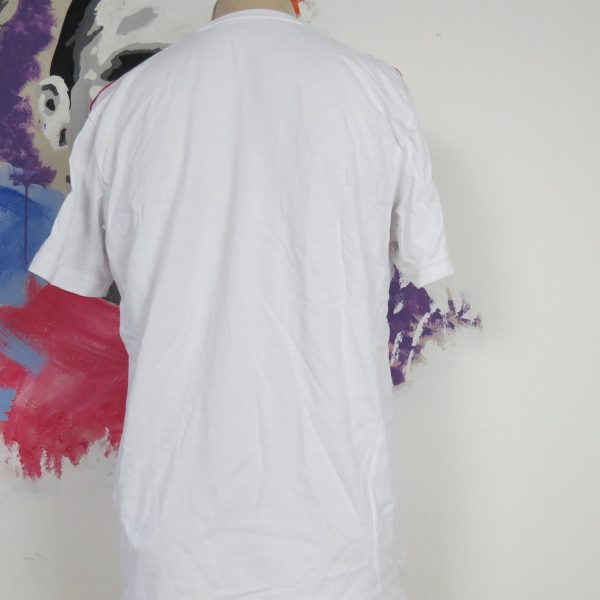 AC Milan 2011 2012 white cotton training shirt adidas soccer jersey size L (4)