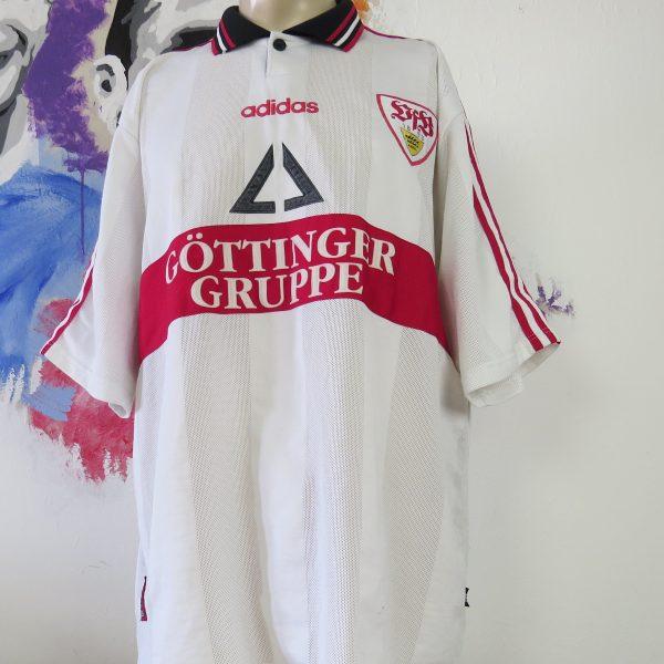 Vintage VfB Stuttgart 1997 1998 home shirt trikot Bobic #11 adidas size XXL (2)