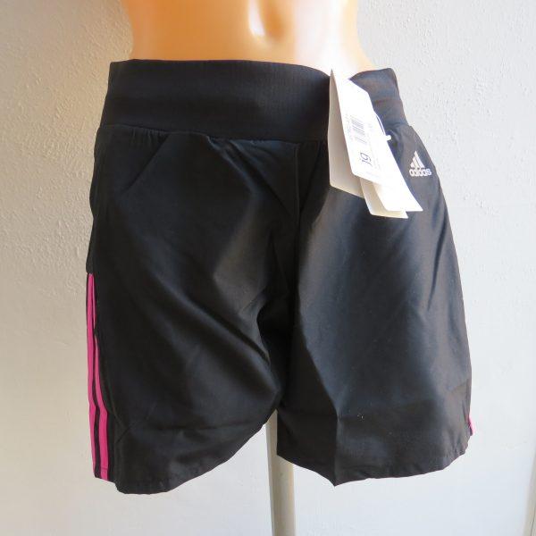 ADIDAS Women's black pink OZWEEGO Climalite AY1542 Running Shorts XS UK6 BNWT (1)