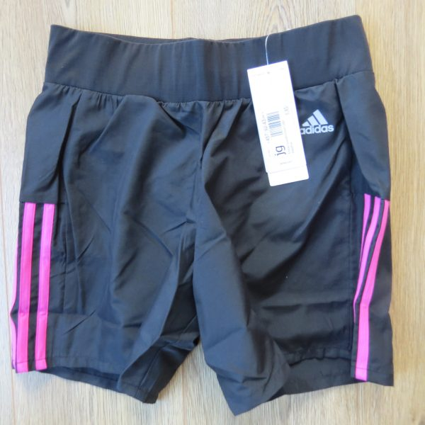 ADIDAS Women's black pink OZWEEGO Climalite AY1542 Running Shorts XS UK6 BNWT (3)