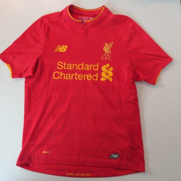 Liverpool 2016 2017 home shirt New Balance Coutinho 10 size Boys L 146cm (2)