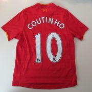 Liverpool 2016 2017 home shirt New Balance Coutinho 10 size Boys L 146cm (5)