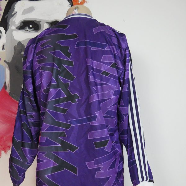 Vintage adidas early 1990ies purple football ls shirt size 56 M (2)