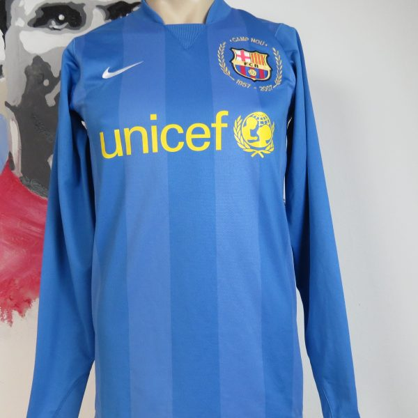 Player Issue Barcelona 2007 2008 LS Goal Keeper Shirt Size S (1)