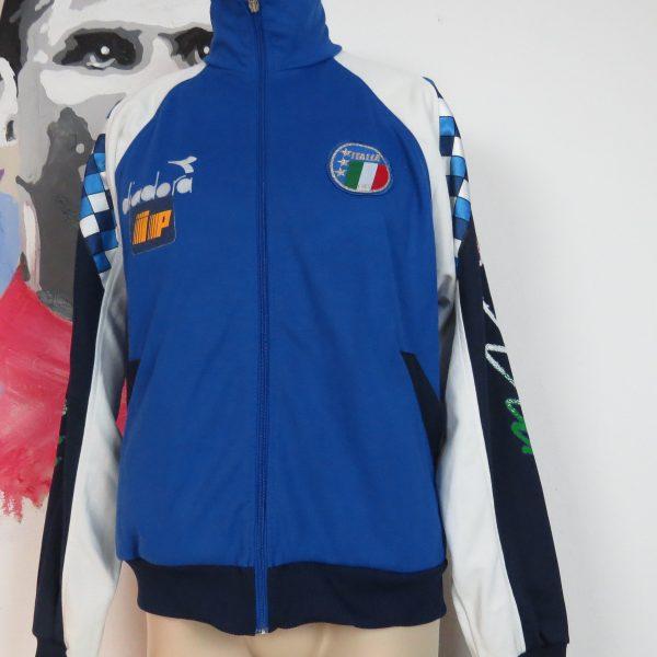 Vintage Italy 1990 1991 1992 tracksuit jacket Diadora Italia World Cup 1990 size L (1)