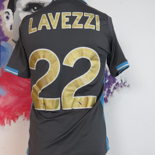 SSC Napoli 2011 2012 away shirt Macron soccer jersey Lavezzi 22 size S (1)