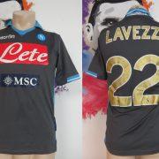 SSC Napoli 2011 2012 away shirt Macron soccer jersey Lavezzi 22 size S