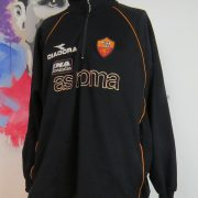 Vintage AS Roma 2000's training 14 zip top Diadora jumper sweater size XXL (1)