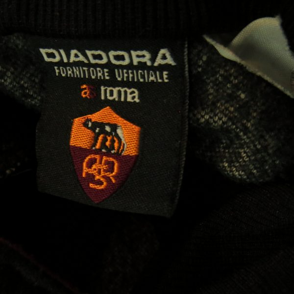 Vintage AS Roma 2000's training 14 zip top Diadora jumper sweater size XXL (2)