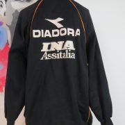 Vintage AS Roma 2000's training 14 zip top Diadora jumper sweater size XXL (4)