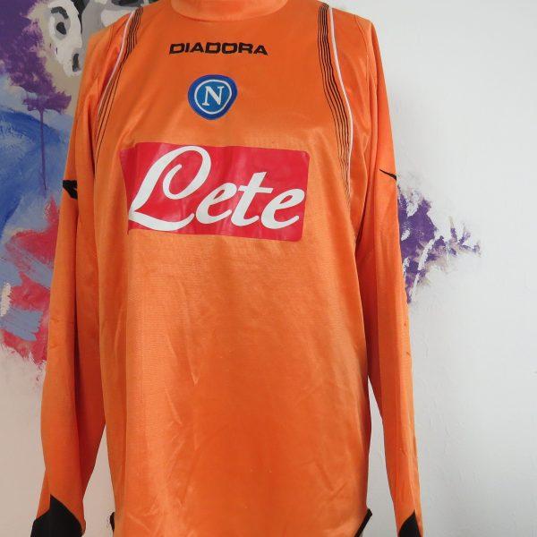 Vintage SSC Napoli 2007 2008 LS padded GK shirt Diadora jersey size L (1)