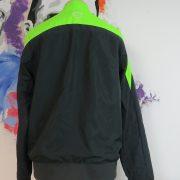 Hibernian fluorescent green grey tracksuit jacket Nike zip size M Hibs (2)