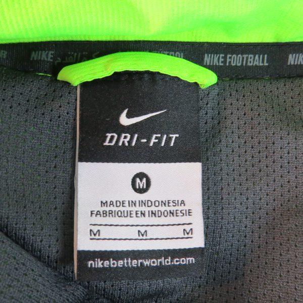 Hibernian fluorescent green grey tracksuit jacket Nike zip size M Hibs (3)