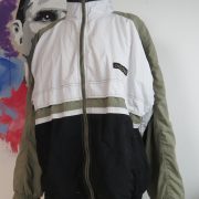 Vintage Adidas 1995 1996 green white tracksuit shell jacket size L (1)