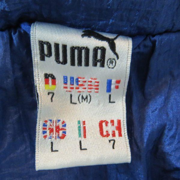 Vintage PUMA 1980ies tracksuit blue grey jacket size L (Puma size 7) (3)