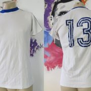 Vintage adidas 1970ies 1980ies white football shirt #13 size M made West Germany