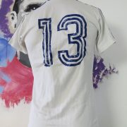 Vintage adidas 1970ies 1980ies white football shirt #13 size M made West Germany (2)