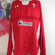 Wales Rugby Union ls 2011 2012 2013home shirt Under Armour size 3XL loose (1)