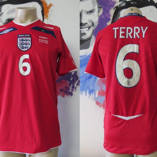 England 2008 away shirt Umbro Terry #6 World Cup 10 Qualifiers v Andorra S (1)