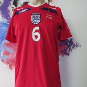 England 2008 away shirt Umbro Terry #6 World Cup 10 Qualifiers v Andorra S (2)