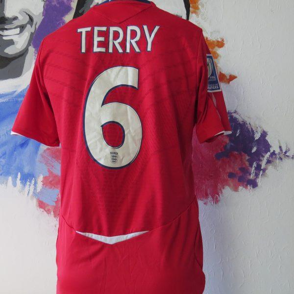 England 2008 away shirt Umbro Terry #6 World Cup 10 Qualifiers v Andorra S (6)