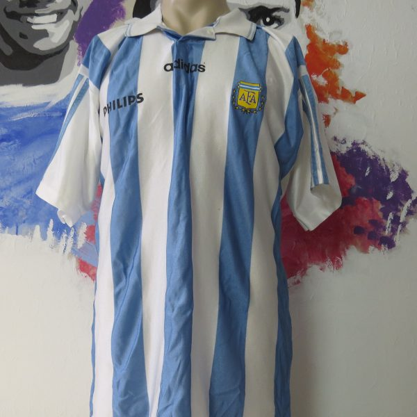 Vintage Argentina 1994 1995 home shirt adidas size T4 L World Cup 94 (1)