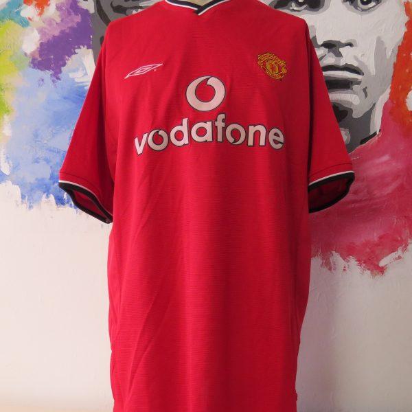 Vintage Manchester United 2000 2001 2002 home shirt Umbro Beckham 7 size XL (2)