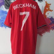 Vintage Manchester United 2000 2001 2002 home shirt Umbro Beckham 7 size XL (3)