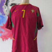 Vintage Portugal World Cup 2002 2003 2004 home shirt Nike Figo 7 size M (1)