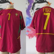 Vintage Portugal World Cup 2002 2003 2004 home shirt Nike Figo 7 size M
