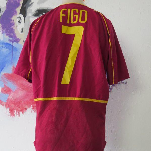 Vintage Portugal World Cup 2002 2003 2004 home shirt Nike Figo 7 size M (2)
