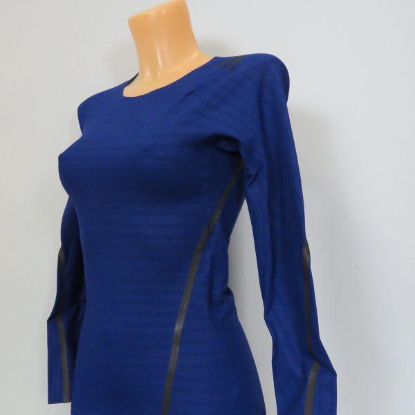 Adidas Alphaskin LS Shirt Compression 360 Tee CE0748 Blue Women's UK 8-10 S BNWT (3)