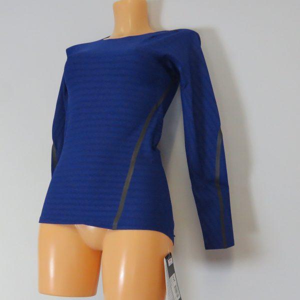Adidas Alphaskin LS Shirt Compression 360 Tee CE0748 Blue Women's UK 8-10 S BNWT (4)