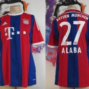 Bayern Munchen 2014 2015 home shirt adidas Alaba 27 signed size L