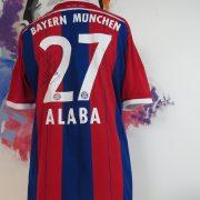 Bayern Munchen 2014 2015 home shirt adidas Alaba 27 signed size L (5)