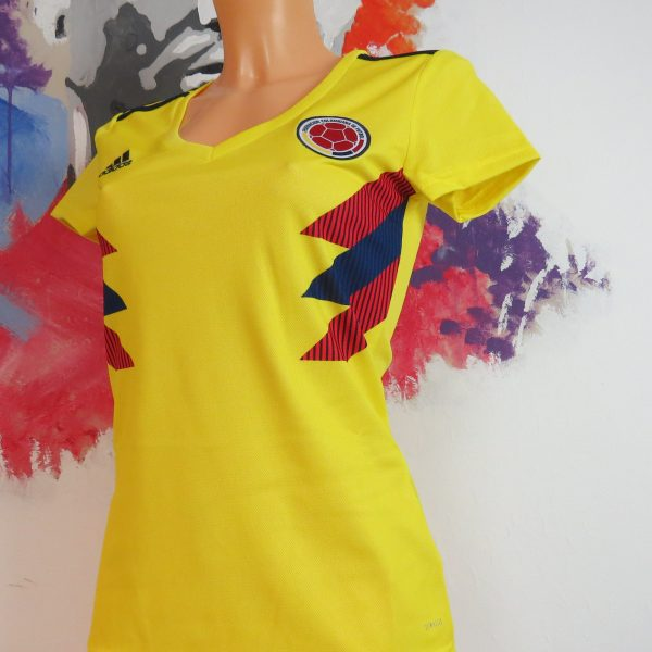 Colombia 2018 2019 Home Shirt adidas Jersey Womens size XS BNWT (2)