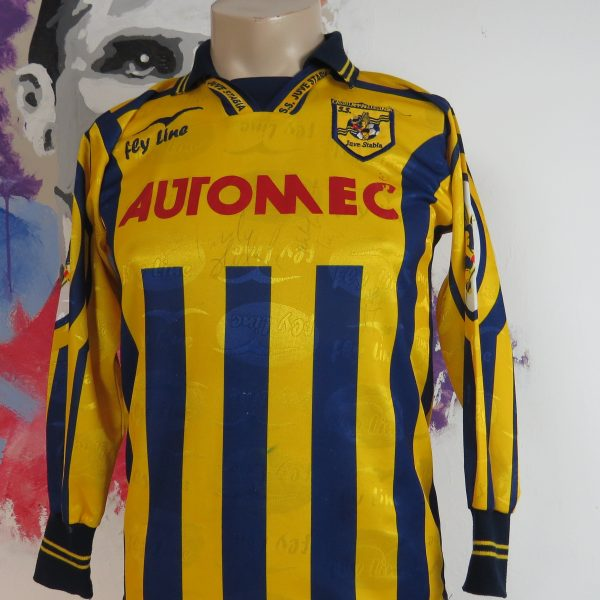 Juve Stabia 2004 2005 ls home shirt Fly Line maglia jersey size S signed (1)