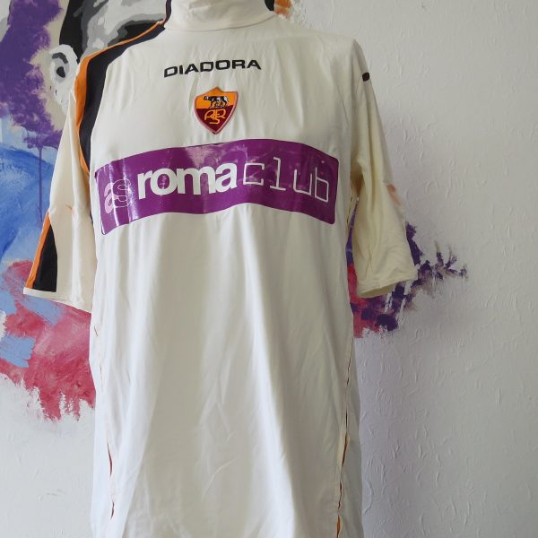 Match worn AS Roma 2005 away shirt pre season #3 (1)
