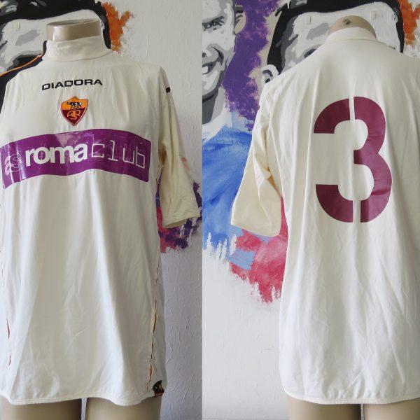 Match worn AS Roma 2005 away shirt pre season #3