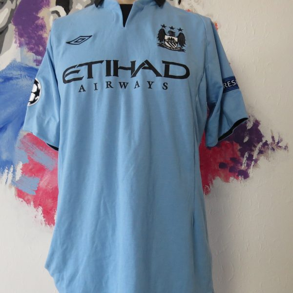 Match worn issue Manchester City 2012 Champions league shirt Rodwell 17 (1)