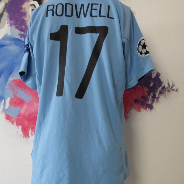 Match worn issue Manchester City 2012 Champions league shirt Rodwell 17 (2)