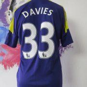 Match worn issue SWANSEA City 2013 2014 EPL away shirt Ben Davies 33 (2)