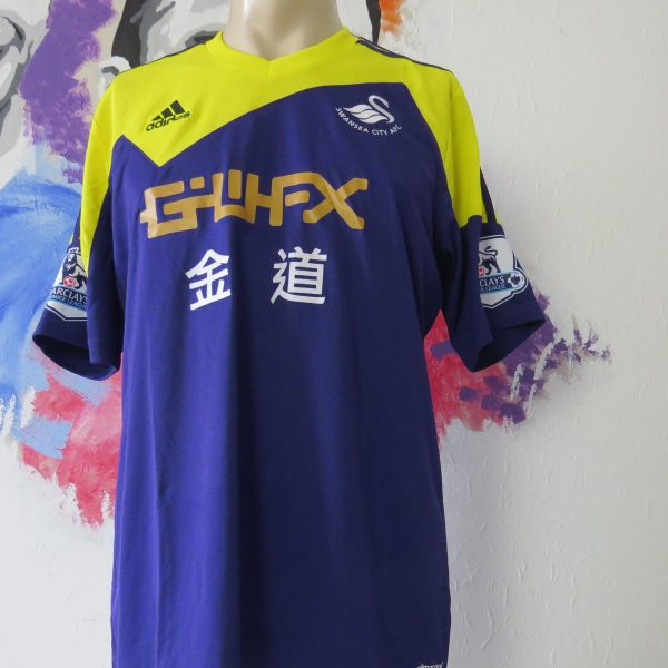 Match worn issue SWANSEA City 2013 2014 EPL away shirt Michu 9 (1)