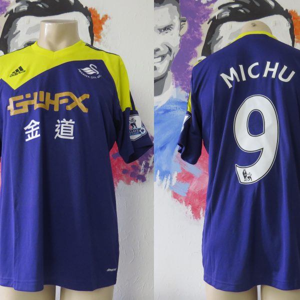 Match worn issue SWANSEA City 2013 2014 EPL away shirt Michu 9