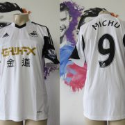 Match worn issue SWANSEA City 2013 2014 EPL home shirt Michu 9